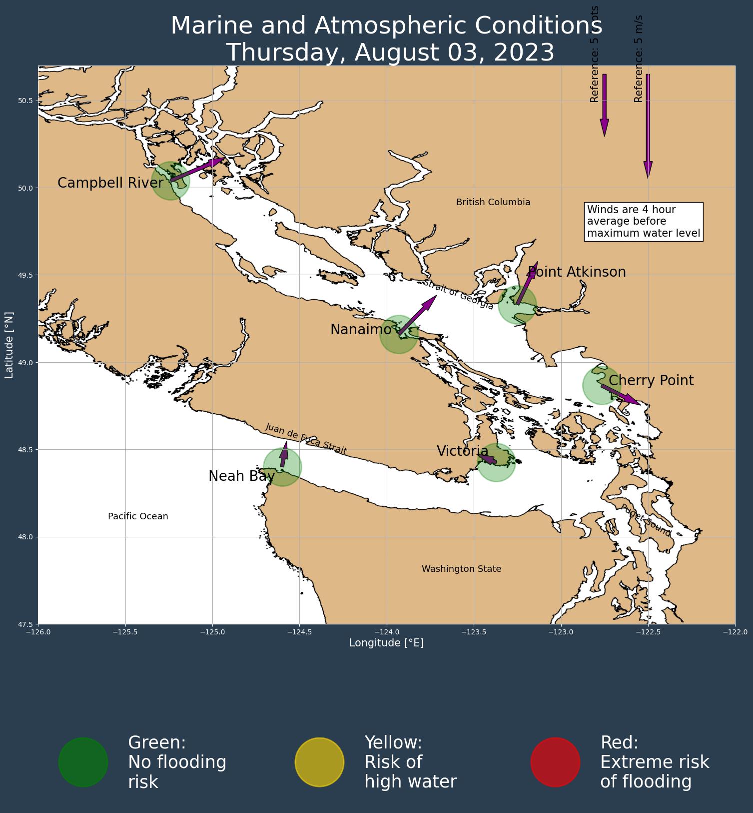 UBC SalishSeaCast Storm Surge Forecast Thumbnail Image